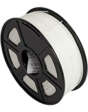 CC DIY PLA 3D Printer Filament Dimensional Accuracy +/- 0.02 mm 1kg Spool 1.75 mm Suits Most 3D Printers Tevo Tarantuala CR10 Mendel Prusa and More, Also Suitable for Most 3D pens (White)