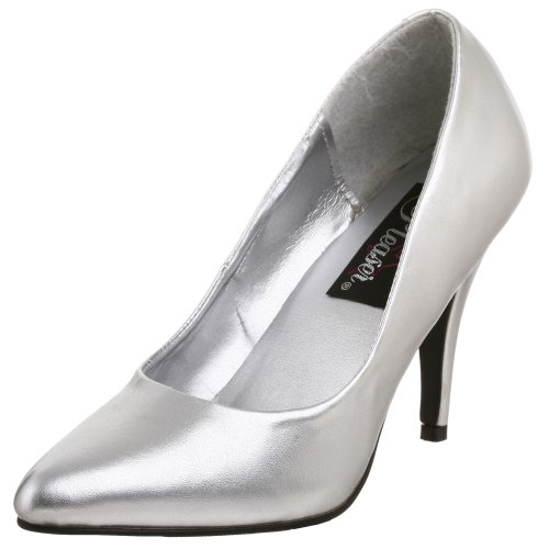Mujer Plateado 420 Zapatos VANITY Pleaser qxItOwPUn