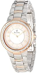 "Bulova Women's 98R162 ""Diamond Case"" Stainless Steel Watch"