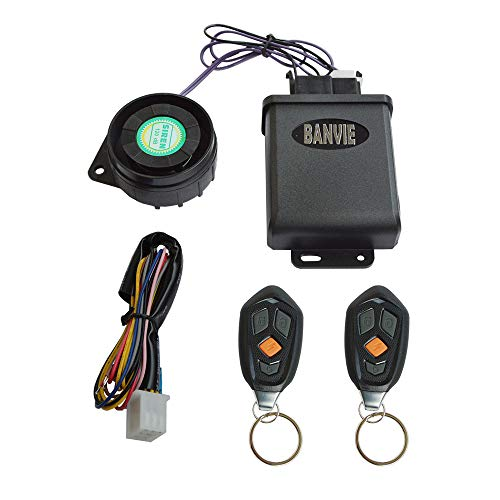 BANVIE Human Voice Out Motorcycle Security Alarm System, Super Waterproof & Transmitter, High Voltage Protection, Remote Start/Stop Engine