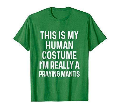Mens Funny Praying Mantis Costume Shirt Halloween Large Kelly Green