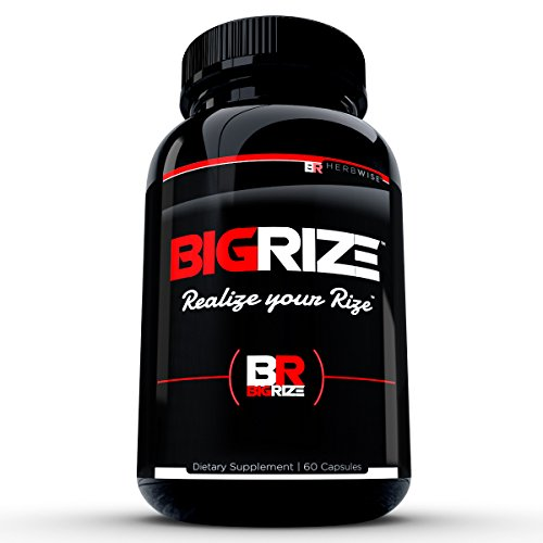 Bigrize Top Rated Testosterone Booster, 60 Capsules Increase Energy, Male Health Enhancement, Stamina, Vitality, Mood, More for Male Health 1 Month