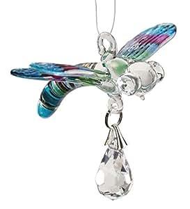 Glass Dragonfly Suncatcher, in Pastel