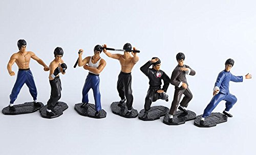 bruce-lee-set-of-7pcs-hard-plastic-resin-small-figurine-kong-fu-master
