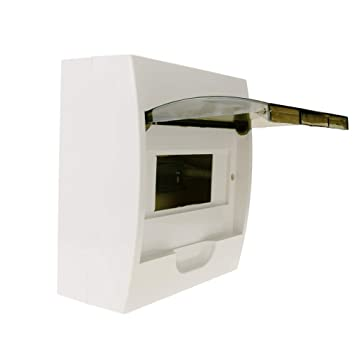 Cablematic - Caja de distribución eléctrica SPN 8M IP40 de superficie de plástico ABS: Amazon.es: Electrónica