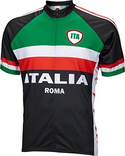 World Italian - World Jerseys Italy Italia Roma Cycling Jersey Men's Large Short Sleeve