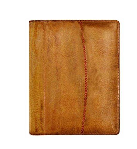 Baseball Portfolio -  Rawlings Baseball Stitch Pad Folio - Tan