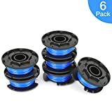 OFPOW String Trimmer Line for Ryobi, 0.065' Autofeed Replacement Spools for Ryobi 18V, 24V, and 40V Cordless Trimmers,6 Pack