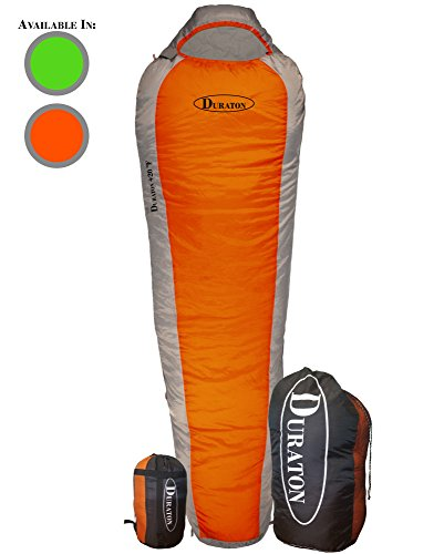 DURATON Mummy Sleeping Bag 20 Degree Weather, Lightweight with Compression Sack for Camping or Backpacking, Warm For Both Adults and Kids (20f Mummy)