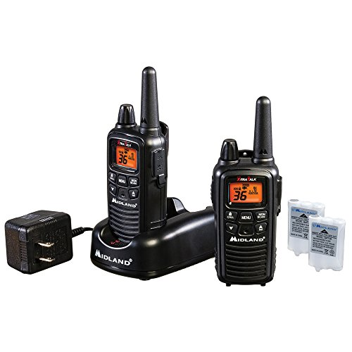 Midland LXT600VP3 36-Channel GMRS with 30-Mile Range, NOAA Weather Alert, Rechargeable Batteries and Charger (Pair Pack)