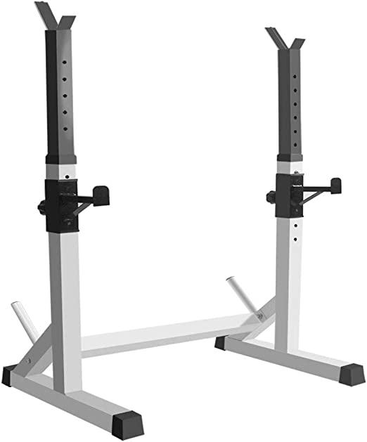 FHGJ Squat Rack Stands,Belastbar Bis 180 Kg,Multifunktion Verstellbarer Hantelst/änder Langhantelst/änder mit Widerstandsb/änder,f/ür Krafttraining Muskeltraining