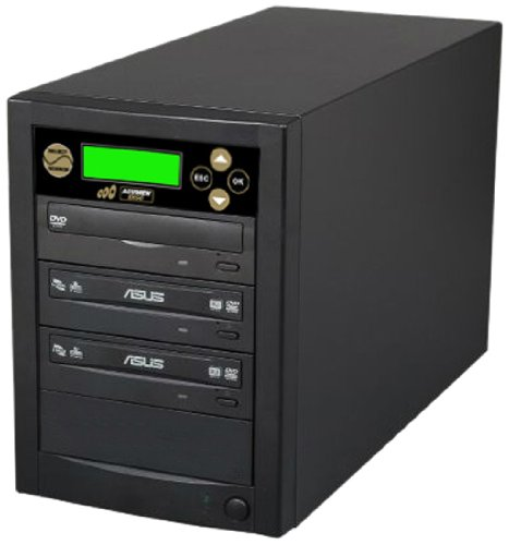 Acumen Disc 1 to 2 Target Discs DVD CD Duplicator Machine with Asus Writers Burners Drives DC02SATASAS by Acumen Disc