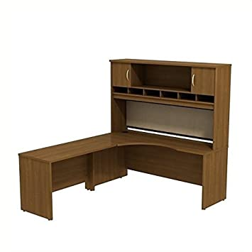 ioneyes business furniture series c warm oak 72 w lh corner l-desk with 72 w 2-door hutch - src002wol