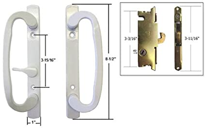 Stb sliding glass patio door handle set with mortise lock white stb sliding glass patio door handle set with mortise lock white non keyed planetlyrics Images