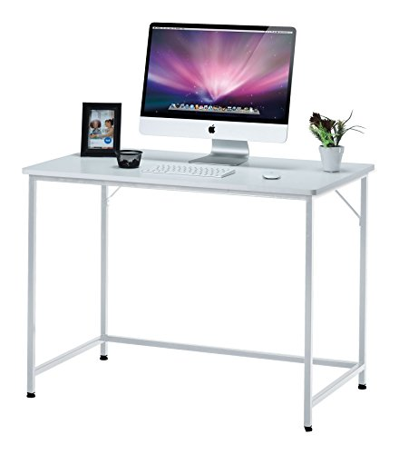 Fineboard 39″ Home Office Computer Desk Writing Table, White For Sale