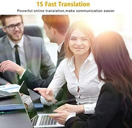 color :Silver Luckguy /Übersetzung MUAMA Enence Smart Instant Echtzeit-/Übersetzer f/ür tragbare Sprachsprachen