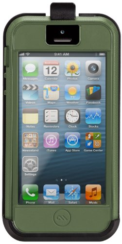 iPhone 5/5s Tough Xtreme with Belt Clip Military Green/Orange