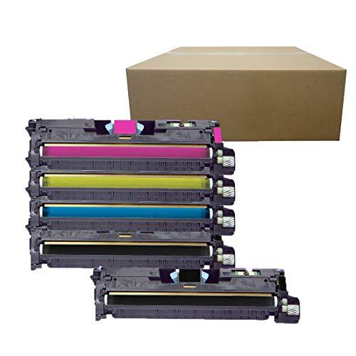 Inktoneram Compatible Toner Cartridges Replacement for HP 2550 122A Q3960A Q3961A Q3963A Q3962A Color LaserJet 2840 2550 2550L 2550Ln 2550n 2820 2830 ([2-Black,Cyan,Magenta,Yellow], 5-Pack) ()