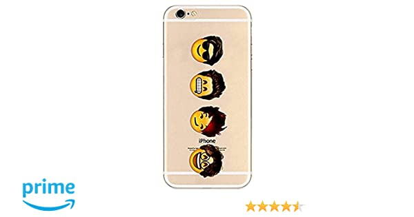 iPhone 5 / 5s / se Compatible, Cartoon Anime Animated Emticons Smileys Cool  Hair Style Transparent Translucent Flexible Silicone Cover Case