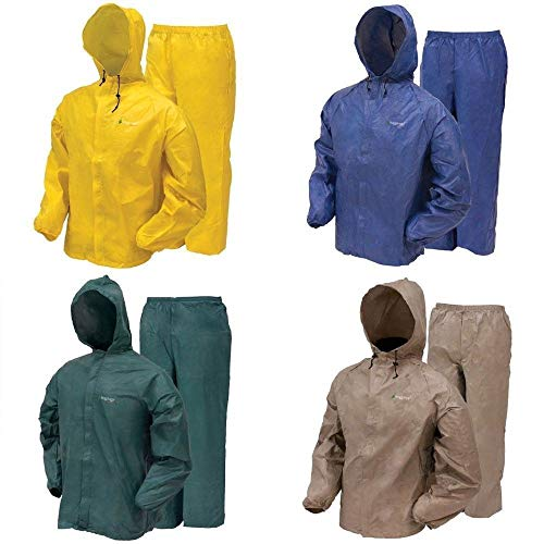 Frogg Toggs Ultra-Lite2 Waterproof Breathable Rain Suit, Men's, Green, Size Large