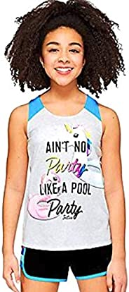 Justice Girls Pool Party Tank Pearl Heather