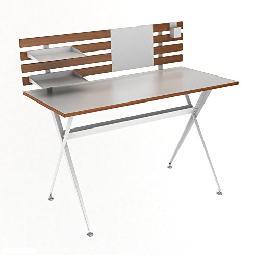 dar Living Genius Desk with Hutch Atlantic