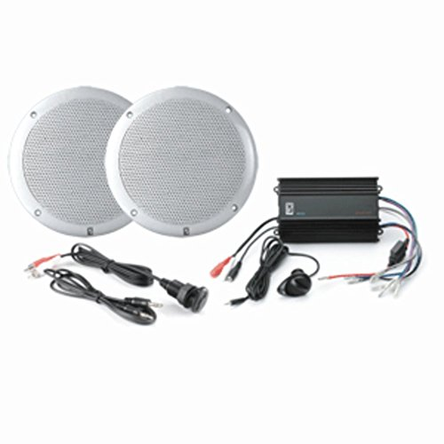Poly-Planar MPS-KIT4-W Marine Amplifier W/White Speakers & MP3 Adapter Consumer Electronics