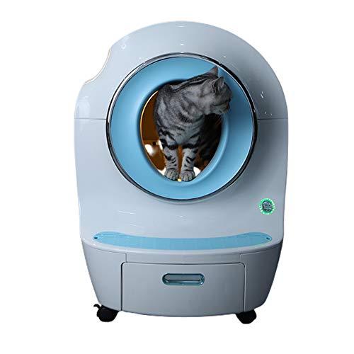 Pillows-RJF Automatic Litter Box Smart Cat Toilet Large Semi-Enclosed Deodorant and Splash-Proof