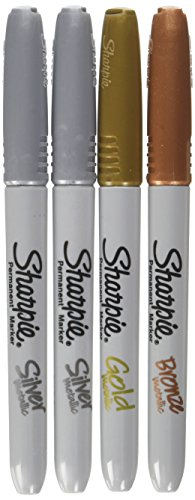 Sharpie - Fine Point Metallic Permanent Markers - Silver/Gold/Bronze (1-Pack of ()