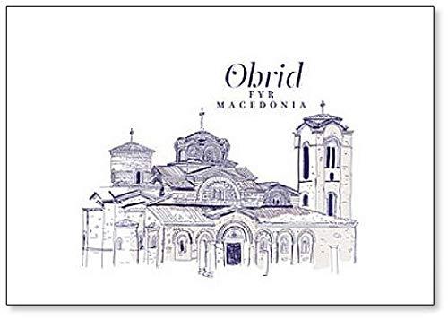 Freehand - Imán para nevera, diseño de dibujo de la iglesia de ...