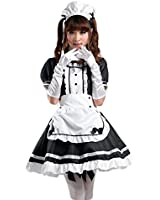 COCONEEN Women's Anime Cosplay French Apron Maid Fancy Dress Costume