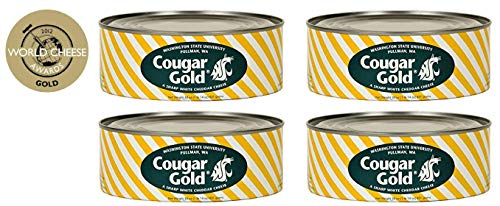 SU Creamery Wazzu Cougar Gold Sharp White Cheddar Cheese (30oz Can) (4-Can Pack) by Washington State University (Image #4)