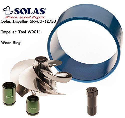 Solas Sea Doo 4-Tec Impeller SR-CD-12/20 W/Wear Ring & Tool GTX 185 SC -