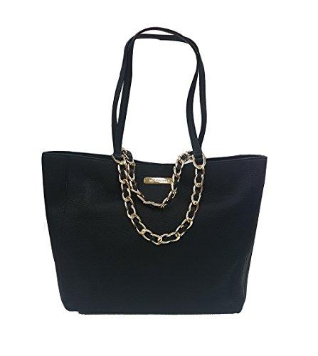 Michael Kors Harper Tote Bag Leather (Black) (35H5GRPT7E) (Michael Kors Blau Flieger)