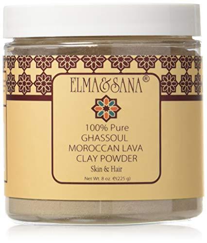 (ELMA&SANA® Moroccan (Rhassoul)Ghassoul Lava Clay- 8oz(225gr))