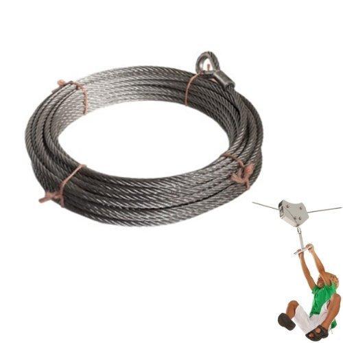 Tragseil für Seilbahn 25m, Ø 10 mm, feuerverzinkt
