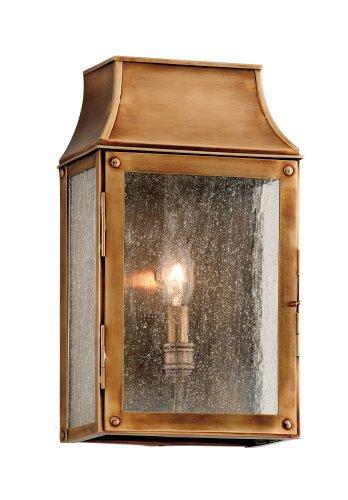 Troy Lighting B3421, Beacon Hill Solid Brass Outdoor Wall Sconce, 60 Watts, Heirloom Brass