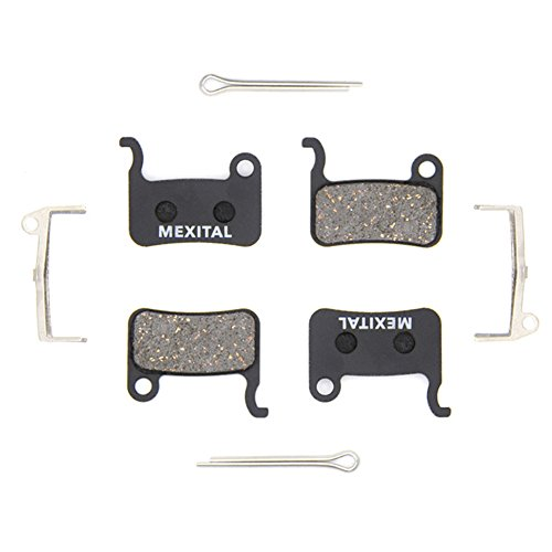 MEXITAL 2 pairs Disc Brake Pads fit for Shimano LX M585 Deore M505 M535 M545 M595 M596 Hone M601 SLX M665 XT M765 M775 M776 SAINT M800 XTR M965 M966 M975 BR-R505 S501 S500 T665 T605