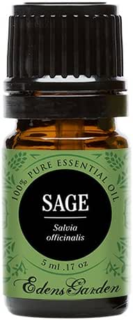 Edens Garden Sage Essential Oil, 100% Pure Therapeutic Grade (Highest Quality Aromatherapy Oils- Cold Flu & Energy), 5 ml