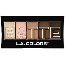 L.A. Colors 5 Color Matte Eyeshadow, Tan Khaki, 0.08 Ounce