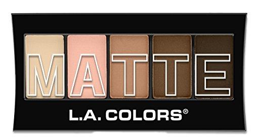 L.A. Colors 5 Color Matte Eyeshadow, Tan Khaki, 0.08 ()