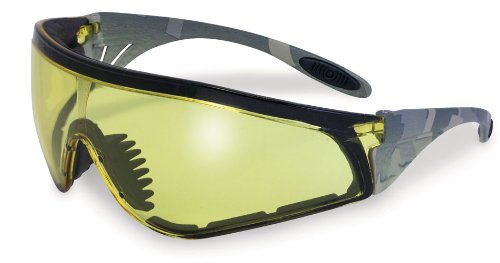 SSP Eyewear Safety Glasses with Military ACU Camo Frames and Amber Anti-fog Lenses, YAKIMA AM A/F