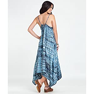 B00MI75U5S Billabong Juniors Wild Nightz Tie Dye Maxi Dress, Off Black, Small