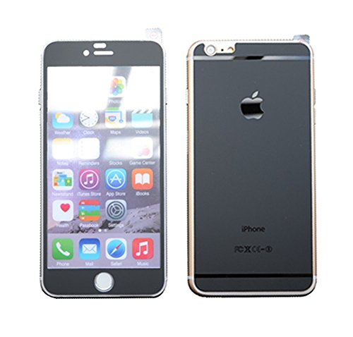 Dreams Mall Tempered Glass Matte Screen Protector Film Decal Skin Sticker for Apple iPhone 6 Plus 5.5 inch-Black