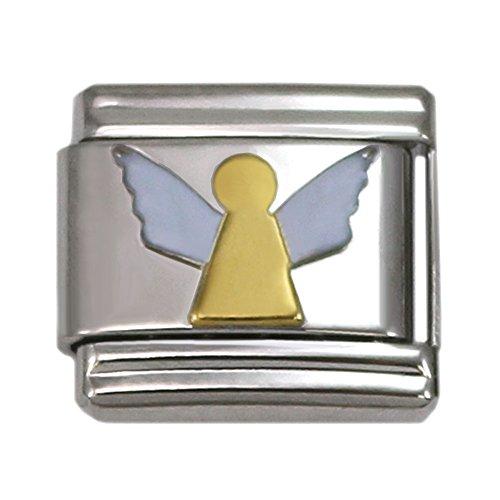 Angel 9mm Italian Charm (Angel Italian Charm Stainless Steel Bracelet Link)