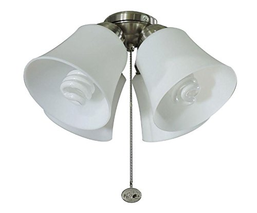 Hampton Bay Brushed Ceiling Fan (Universal Ceiling Fan Light Kit 4 Light Brushed Nickel)