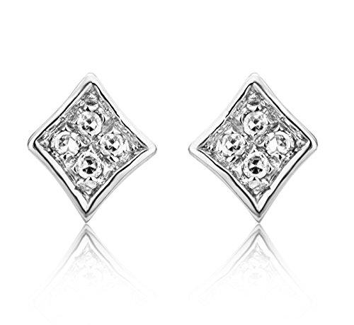 Boucles d'Oreille - SA9001E - Femme - Or Blanc 375/1000 (9 Cts) 0.5 Gr - Diamant