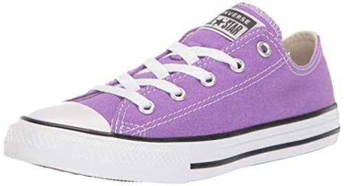 Girls Converse All Stars (Converse Girls' Chuck Taylor All Star Galaxy Dust Sneaker, Bright Violet/Natural Ivory, 12 M US Little)