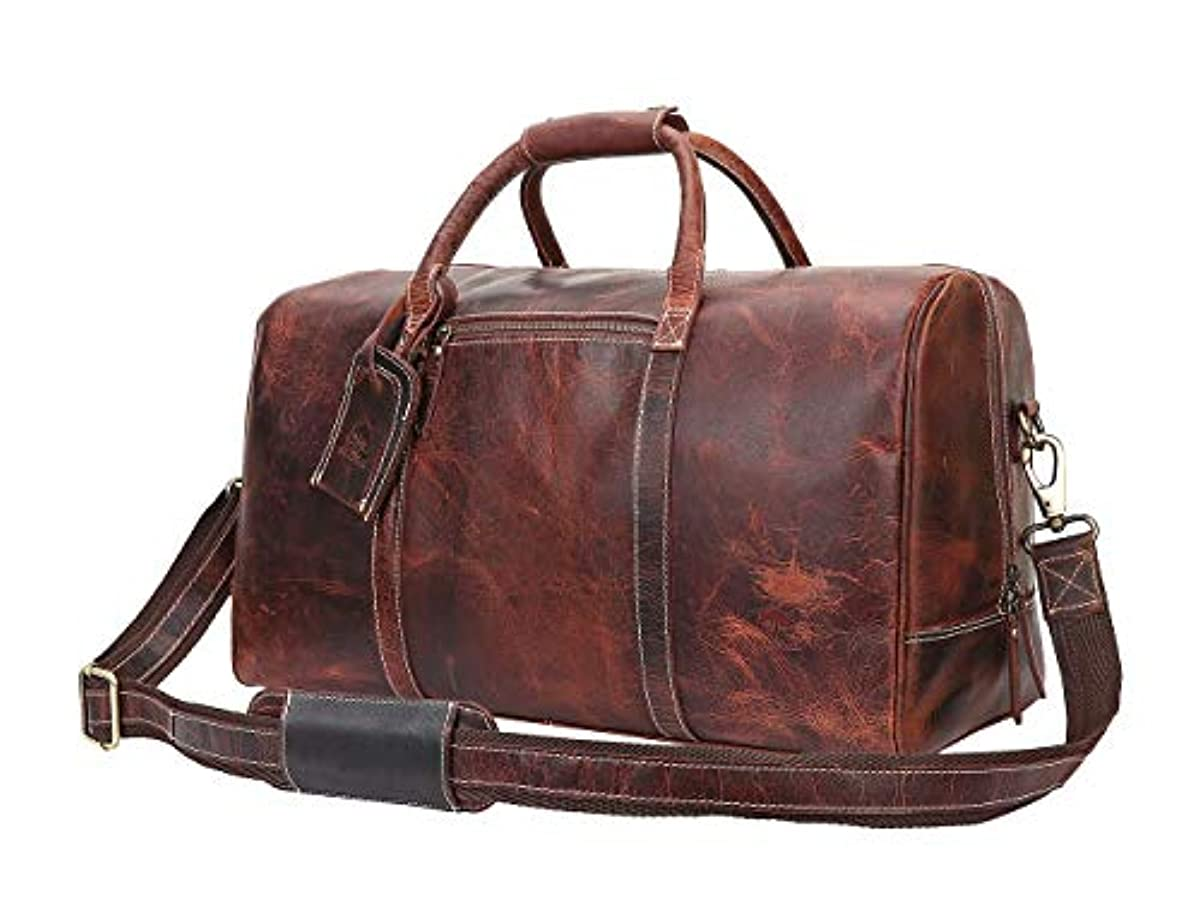 bc67b909ba Leather Travel Duffel Bag - Airplane Underseat Carry On Bags By Rustic Town