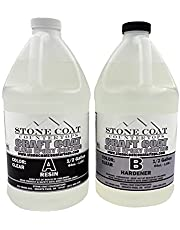 Craft Coat 1 Gallon Epoxy Kit (Stone Coat Countertops) – Learn to Use Epoxy with a Low-Cost DIY Epoxy Resin Kit! Clear and Colorable! Great for Sample Boards, Arts and Crafts, and More!